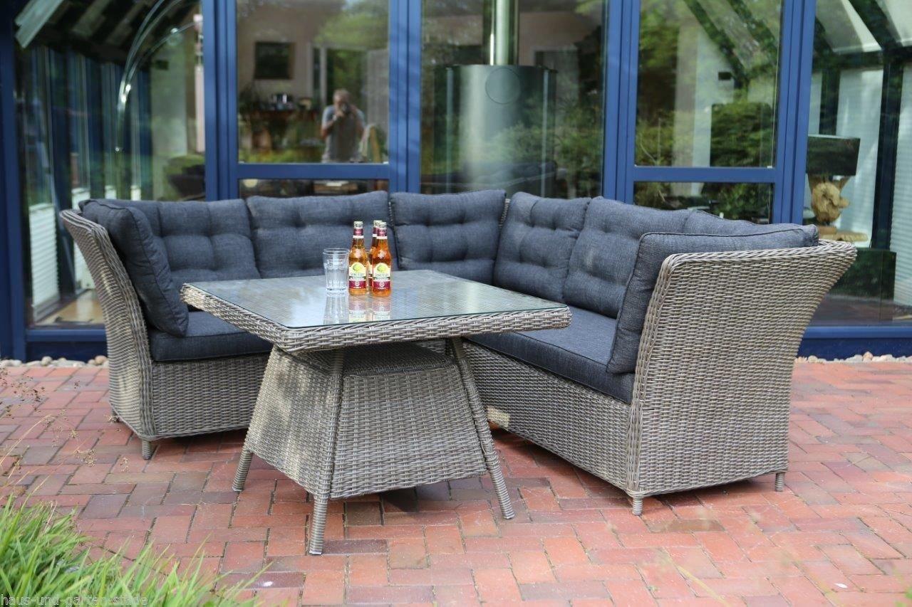 Destiny Loungegruppe Palma TRI Vintage Grau Lounge Sitzgruppe Sofaset Polyrattan Garnitur Set online kaufen
