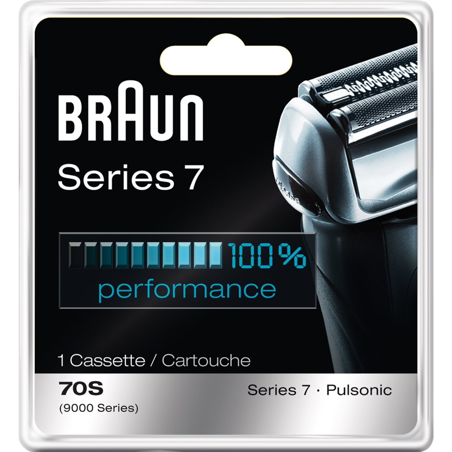Braun Series 7 Combi 70S Cassette Replacement (Formerly 9000 Pulsonic)-All New Value Pkg (2 Refills)