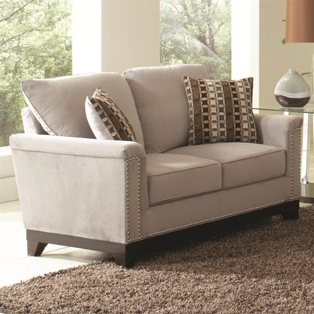 Coaster Home Furnishings Contemporary Loveseat - Brown/Grey Blue