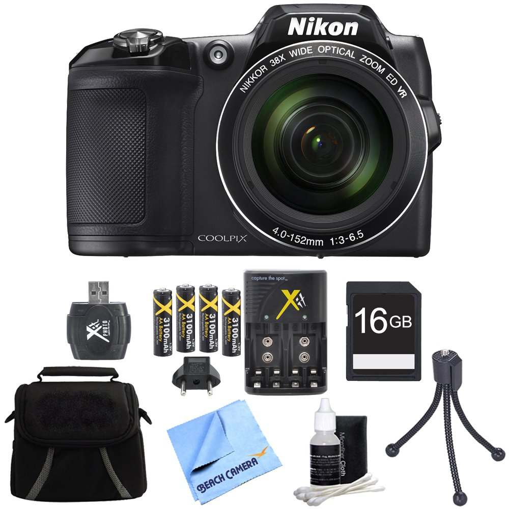 Nikon COOLPIX L840 16MP 38x Opt Zoom Digital Camera 16GB Accessory Bundle - Black