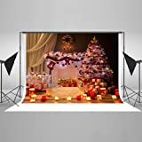 7X5ft Christmas Photography Background Indoor Photography Backdrops Foldable Without Wrinkles