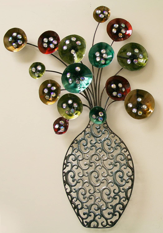 Floral Metal Wall Art Decorations Beautiful and Elegant