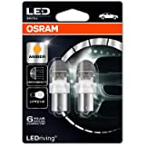 OSRAM LED PY21W BAU15s Amber Exterior Light 2x Bulbs 7557YE-02B