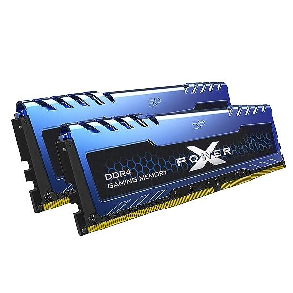 Silicon Power 16GB (8GBx2) XPOWER Turbine Gaming DDR4 3200MHz (PC4 25600) 288-pin CL16 1.35V UDIMM Desktop Memory Module - Low Voltage (SP016GXLZU320BDA) (Color: Dual Pack-3200MHz, Tamaño: 16GB (2x8GB)-3200MHz)