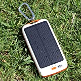 EZOPower Outdoor USB Solar External Power Bank Backup Battery Charger- 10000mAh For Apple iPhone 6 / 6 Plus / iPhone 5 / 5s ; Samsung Galaxy Note 4 / Note 3 / Note 2, Galaxy S5 / Galaxy S4 / Galaxy S3 and more