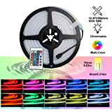 Pearlight Neon LED RGB Silicone Light Strip Flexible/Waterproof/Multi-Color/Remote Control for Home/Garden/Architectural Decoration (16.4 FT / 5 Meters, RGB) (Color: Multicolor, Tamaño: 16.4 ft/5 Meter)
