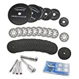 36 Pieces Cutting Wheel Set for Rotary Tool, Rotary Drill Saw Blades, 22 mm Diamond Cutting Wheel and Resin Metal Cutting Wheels Tools Wood Metal Stone Cutting