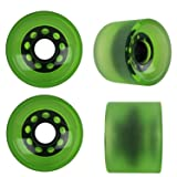 KSS Sliding 82A Stone Ground Longboard Wheels (Set of 4), Green, 70mm (Color: Green, Tamaño: 70mm)