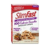 SlimFast Advanced Nutrition 100 Calorie Snacks, Drizzled Crisps, Cinnamon Bun Swirl,1 oz Bag (Pack of 5) (Tamaño: 5 Ounce (Pack of 1))