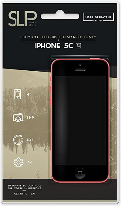 Apple iPhone 5C Smartphone débloqué 4G (Ecran: 4 pouces - 16 Go - Simple Nano SIM - iOS) Rose (Reconditionné Certifié Grade A)