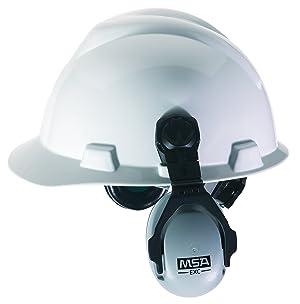 MSA 10061230 SoundControl EXC Earmuffs, NRR 25 dBa (Color: Black/Grey, Tamaño: 25 dBa)