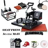 DREAMVAN Heat Press Machine Transfer DIY Press for T-Shirts,Hat/Cap,Mug and Plate-Heat Platen 12
