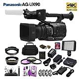 Panasonic AG-UX90 4K/HD Professional Camcorder (AG-UX90PJ) Studio Starter Bundle (Tamaño: Studio Bundle)