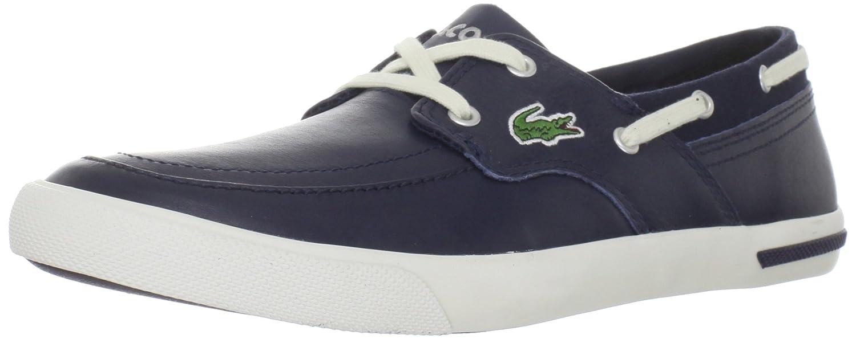 a93a6ca3aa91c7 Men s Lacoste Newton Boat Shoe 7 24SPM12381W6 Dark Blue Off White Sneaker