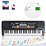 Kids Piano Keyboard 49 Keys- Multi-function Portable Piano Keyboard Electronic Organ with Charging function for Kids and Beginners Chargeable (Color: Chargable 49key)