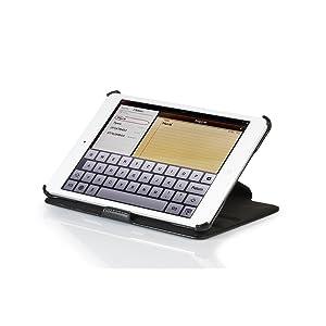 StilGut UltraSlim Case V2 Tasche mit Standfunktion für Apple iPad mini in schwarz