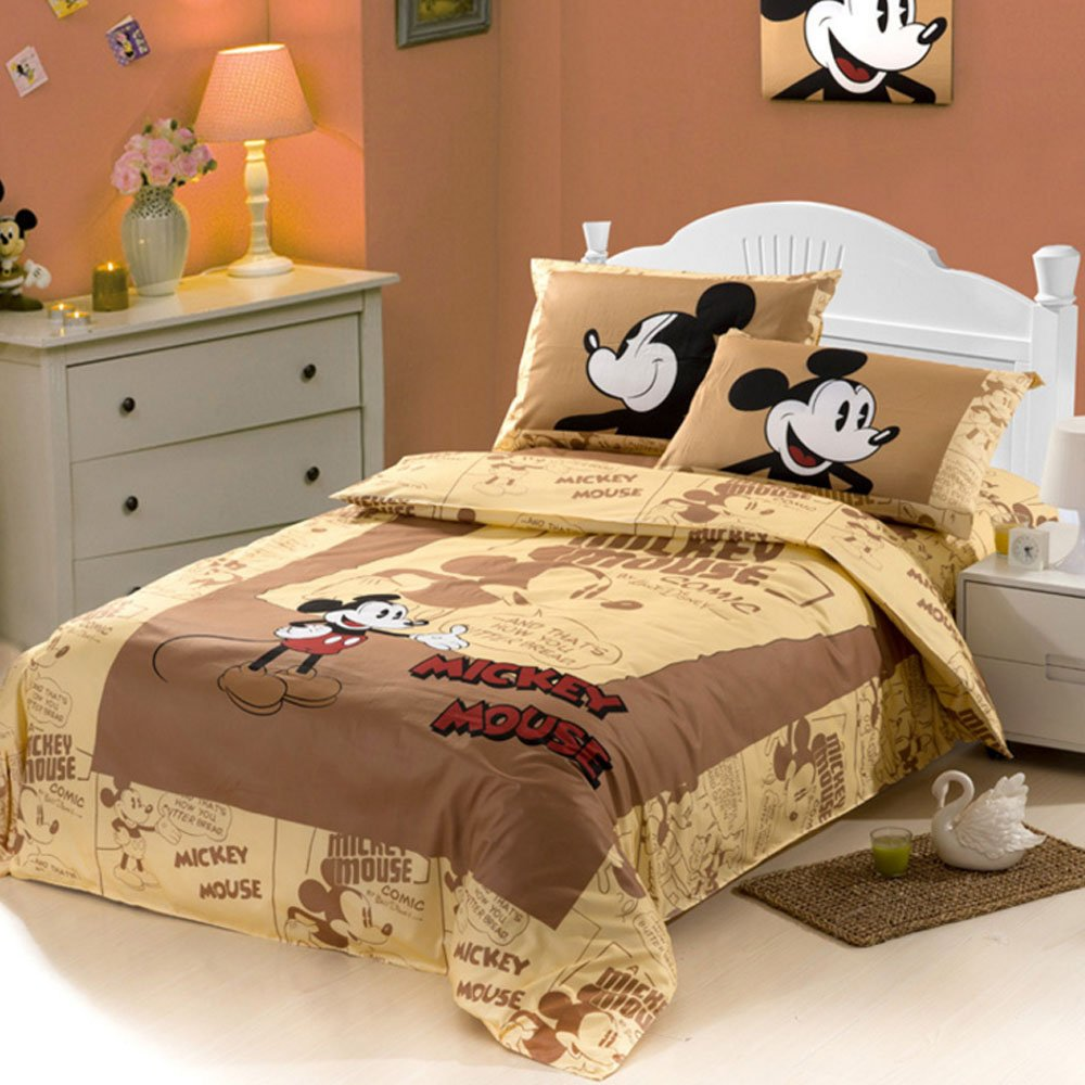 Cartoon Pattern Bedding Mickey Mouse Duvet Cover Set 3