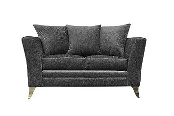 Essex tela 2-Seat de sofá plateado