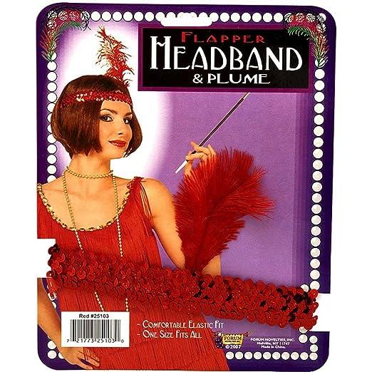 Flapper Headpiece Amazon Amazon.com Red Sequin Flapper