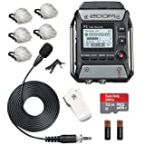 Zoom F1-LP Field Recorder & Lavalier Microphone Bundle with Deadcat Windscreens (5PK) & 32GB Micro SDHC Card
