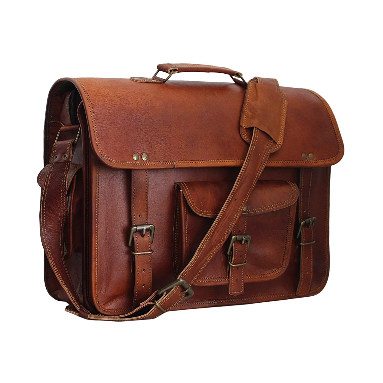 Vintage Leather Laptop Bag 15