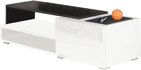 Symbiosis 3254A0219L02 - Mueble para TV con cajón (120 cm), color blanco y negro