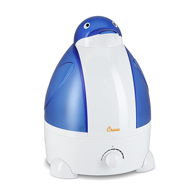 Crane Adorable Ultrasonic Cool Mist Humidifier with 2.1 Gallon Output per Day - Penguin via Amazon