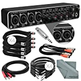 Photo Savings Behringer U-PHORIA UMC404HD USB 2.0 Audio/MIDI Interface and Accessory Bundle w/ 8X Xpix Cables + 2RCA Male Dual Cable + Dual MIDI Cable + Adapter + Fibertique (Color: Deluxe)