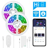 DreamColor 32.8FT LED Strip Lights, Govee WiFi Wireless Smart Phone Controlled Led Light Strip 5050 LED Lights Sync to Music, Work with Alexa, Google Assistant, Android iOS (Not Support 5G WiFi) (Color: Dreamcolor, Tamaño: 32.8 FT)