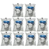 10 Pack of Vakly 4oz Sterile Specimen Cups Individually Bagged with Screw On Lids
