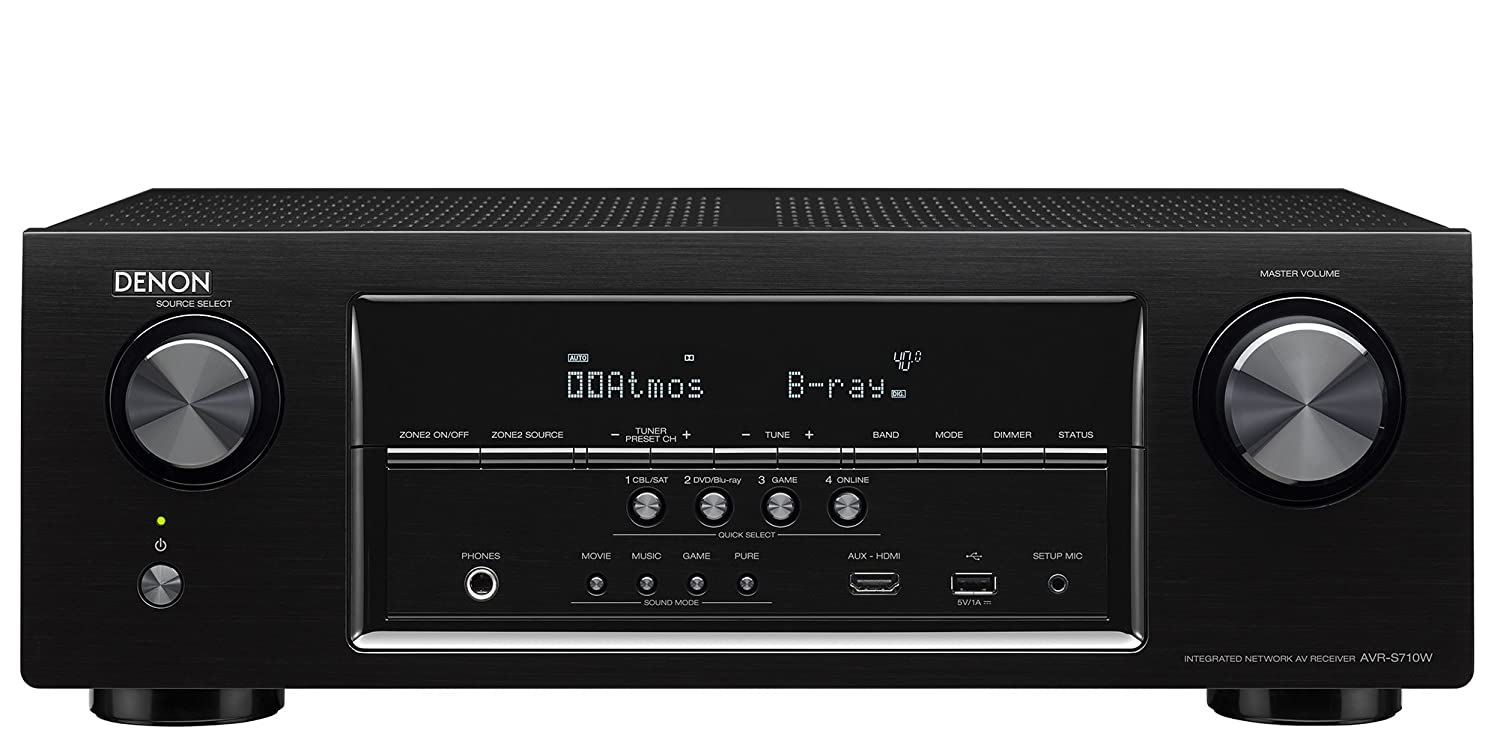 Denon AVRS710W-R Refurbished 7.2 Channel Full 4K Ultra HD AV Receiver with Bluetooth & WIFI