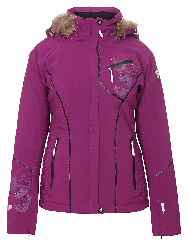 ICEPEAK Winterjacke, Damen Skijacke, NETIS, lila, Echtpelz günstig online kaufen
