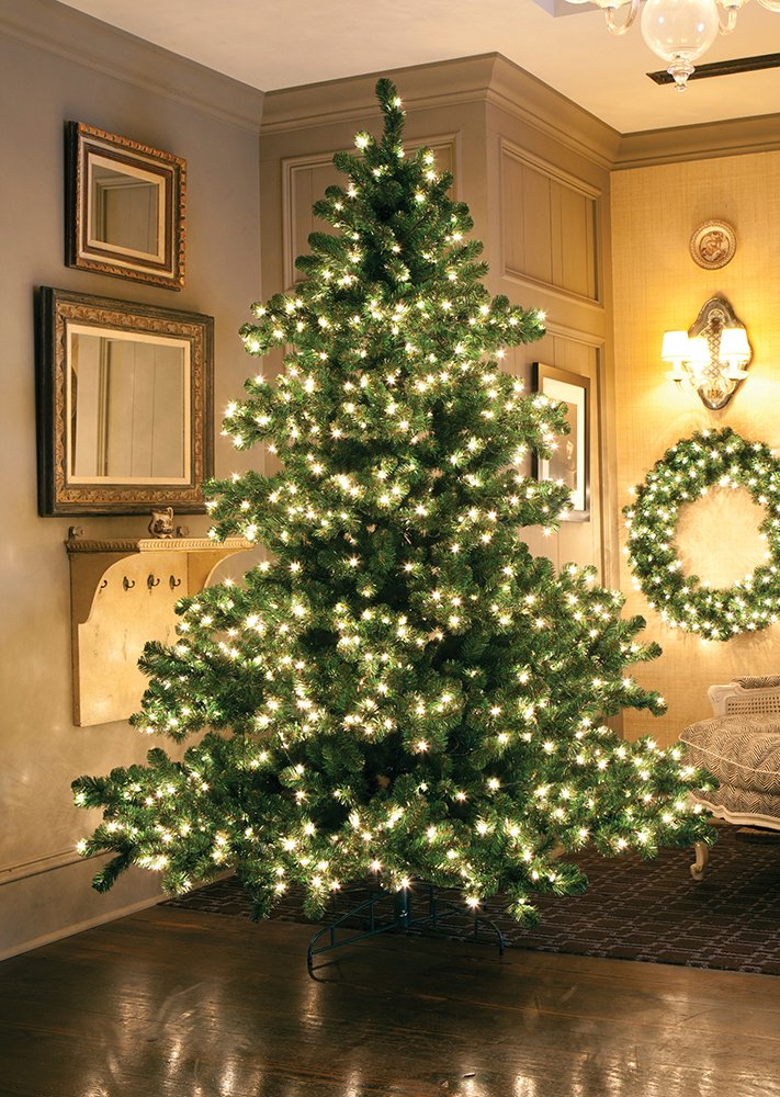 12' Pre-Lit Middleton Full Layered Artificial Christmas Tree