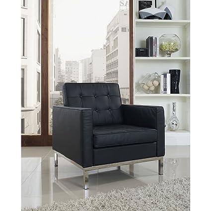 Loft Leather Armchair, Black