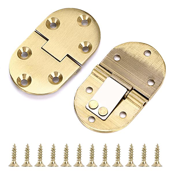 OwnMy 2Pcs 90 Degree Solid Brass Hinge, Drop Front Desk Drawer Butt Hinge for Table Sewing Machine,Doors and Folding Table with Screws (2Pcs 90 Degree) (Color: 90 Degree - 2 PCS)