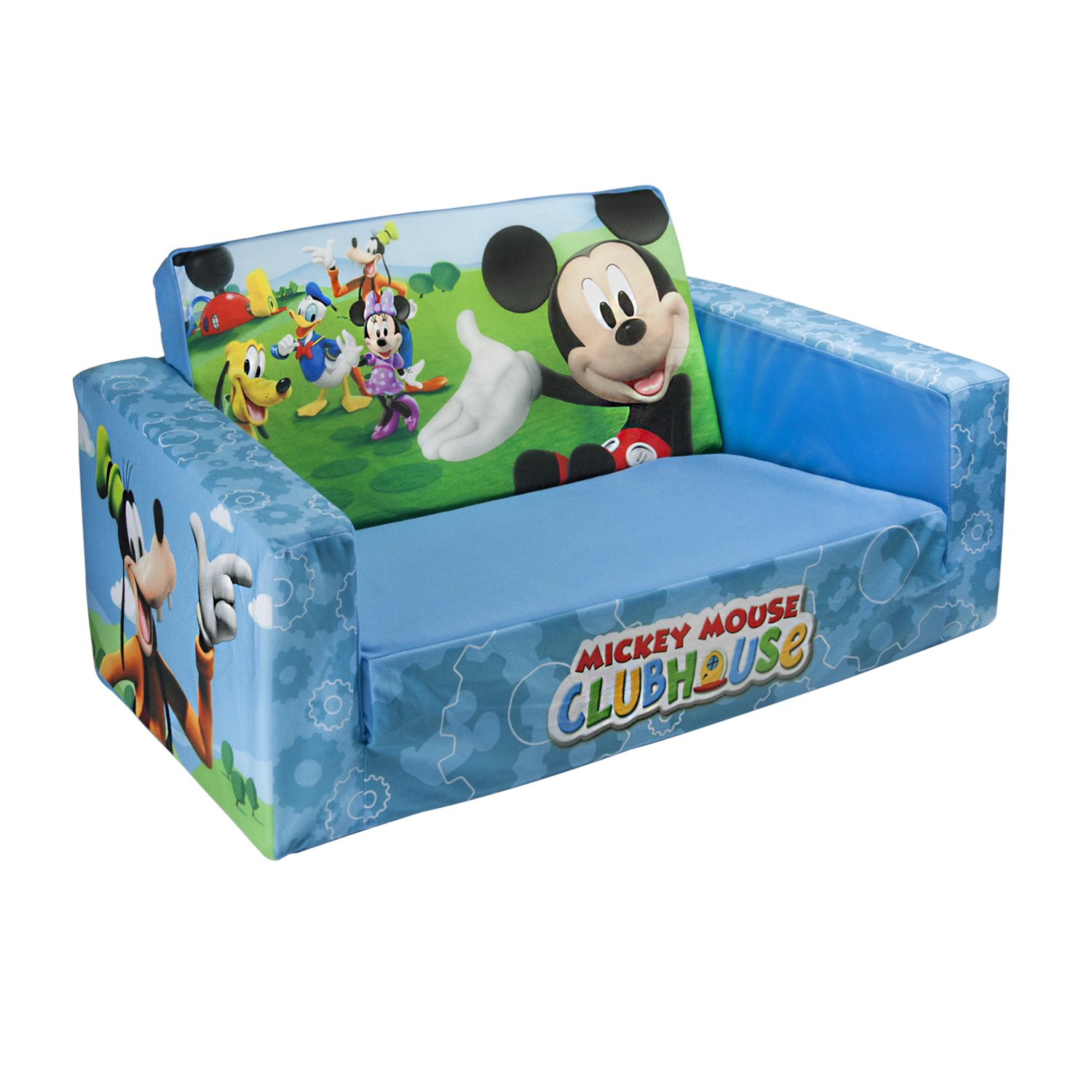 Baby Sofa Bed : Marshmallow Flip Open Sofa with Mickey Mouse Theme BUY NOW
