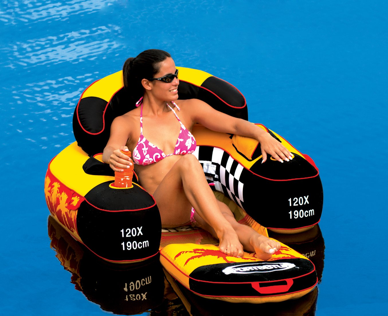 River Rafting Float Lake Pool Tube Inflatable Lounge Chair Water Toy Swimming