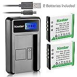 Kastar Battery (X2) & LCD Slim USB Charger for Fujifilm NP-50 BC-50 BC-45W and Fuji FinePix F200EXR F75EXR F70EXR F100fd F60fd F50fd XF1 XP100 XP150 XP170 X20 F605EXR F660EXR F775EXR F900EXR Cameras (Tamaño: 1 LCD charger + 2 batteries)