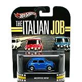 MORRIS MINI (BLUE) * THE ITALIAN JOB * Hot Wheels 2012 Retro Entertainment Series Die Cast Vehicle