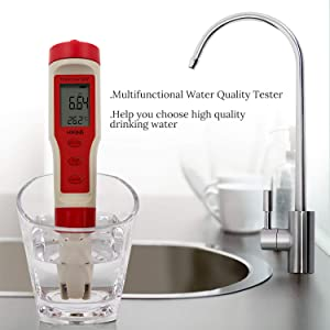 HiKiNS Combo Meter Digital Water Quality Tester High Accuracy 4 in 1 PH/TDS/EC/Temp Multi-Parameter Tester for Aquariums Hydroponics Pool Spa Drinking Water Laboratory and More (Tamaño: Combo meter)
