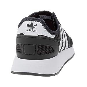 fb2dc2b875f adidas Youth N-5923 Black White Textile Trainers 6 US (Color  Black White