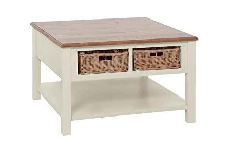 Premier Housewares Dorset Coffee Table, Wood, Cream