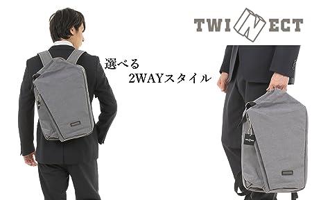 【TWINECT】ビジネスリュック 2WAY スーツによく合うお洒落な大容量バッグ