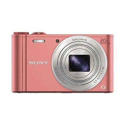 """Sony DSCWX350P.CE3 Appareil photo hybride 3"""" (7,62 cm) 18,2 Mpix Zoom optique 20x Wi-Fi/HDMI/USB Rose"""
