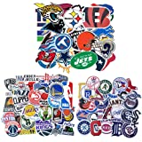 Barisc Stickers of NFL+NBA+MLB 93Pcs, Waterproof Vinyl Sports Fan Decals of 32Pcs NFL National Football League 31Pcs NBA National Basketball Association 30Pcs MLB Major League Baseball All Teams Logos (Color: NFL+NBA+MLB)