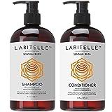 Laritelle Organic Shampoo 16 oz + Conditioner 16 oz | Prevents Hair Loss, Promotes Hair Growth | Argan Oil, Rosemary, Palmarosa & Orange | NO GMO, Sulfates, Gluten, Alcohol, Parabens, Phthalates (Tamaño: Shampoo + Conditioner)