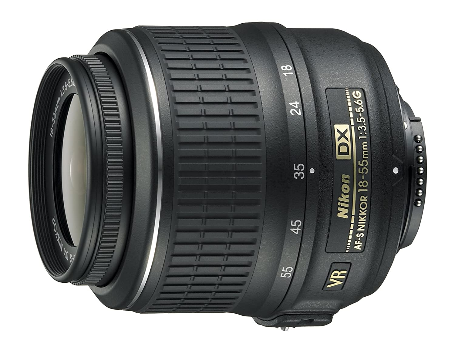 Nikon AF-S DX NIKKOR 18-55mm f/3.5-5.6G Vibration Reduction Zoom Lens with Auto Focus for Nikon DSLR Cameras