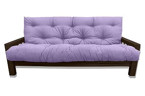 Convertible Vienna Wengé, futon violet, 207x100x30 cm