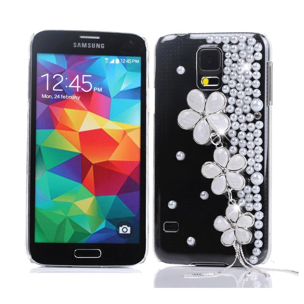 Full Rhinestones GEM Series Luxury Crystal Diamond Bling Design Hard Faceplate Protector Cover Case for Samsung Galaxy S5 I9600