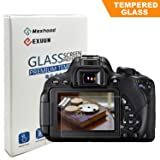 Canon EOS Rebel T7i T6i T5i 800D 700D 750D LCD Tempered Glass Screen Protector, Poyiccot Optical 9H Hardness 0.33mm Ultra-Thin DSLR Camera Tempered Glass for Canon T5i T6i T7i